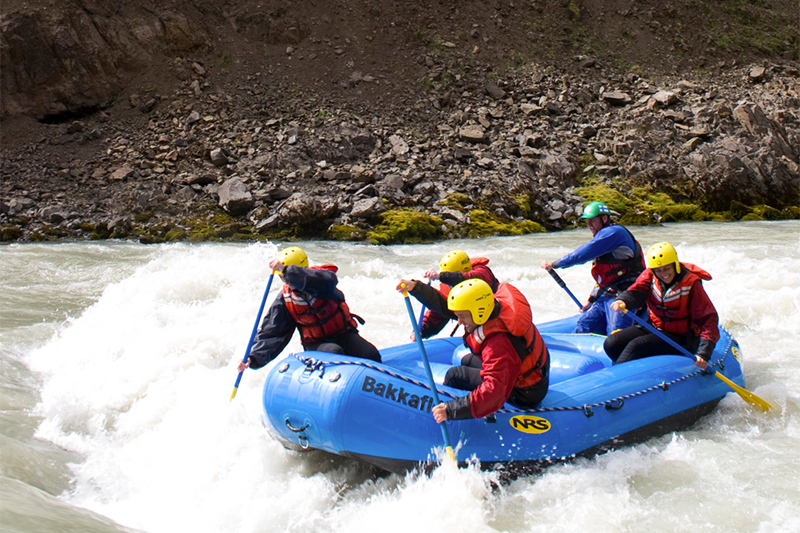 River Rafting in Bakkaflöt in the Northern Region