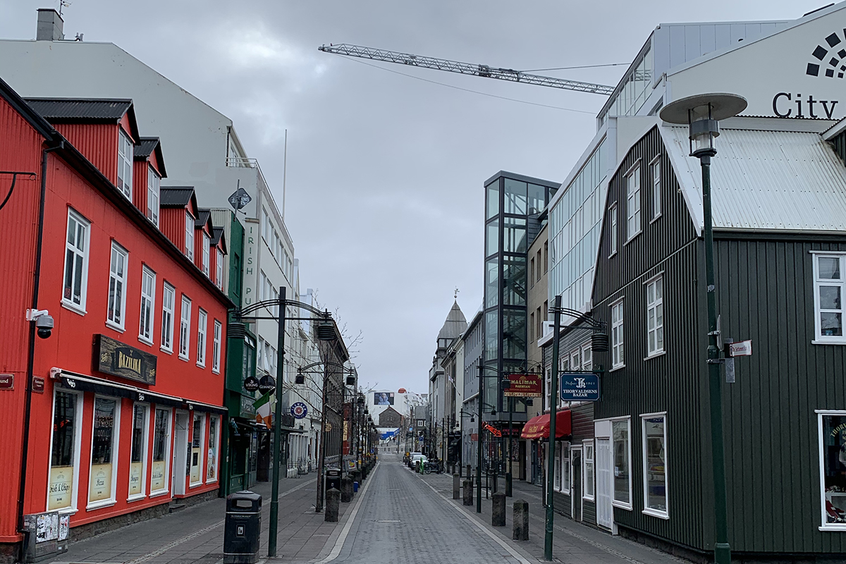 Like most cities, Reykjavík was almost empty for days