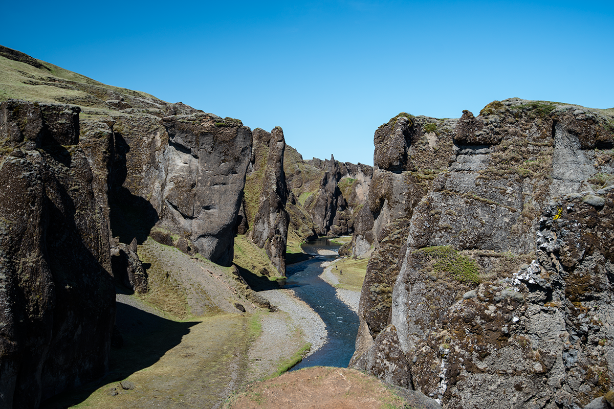 Fjaðrárgljúfur canyon by the Ring Road