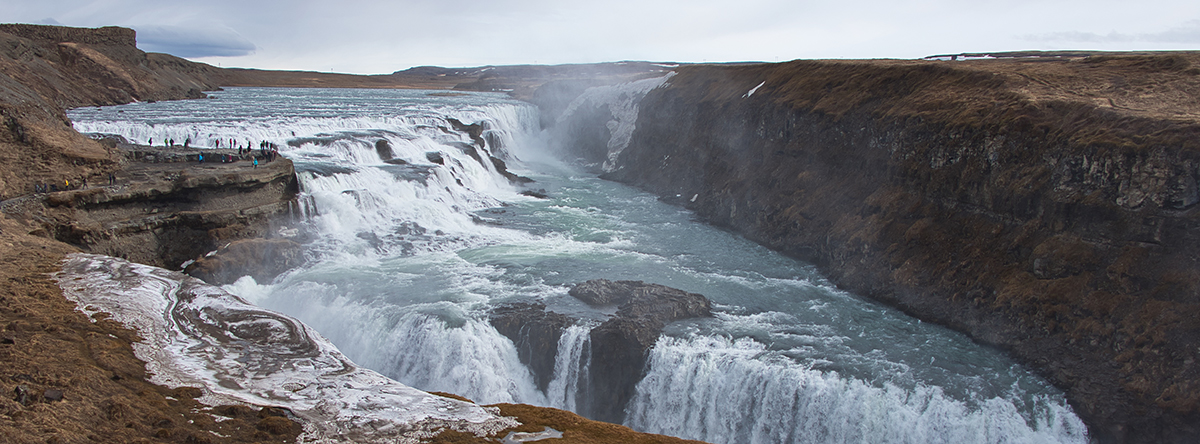 Gullfoss waterfall is one of the best known landmarks and attractions in Iceland