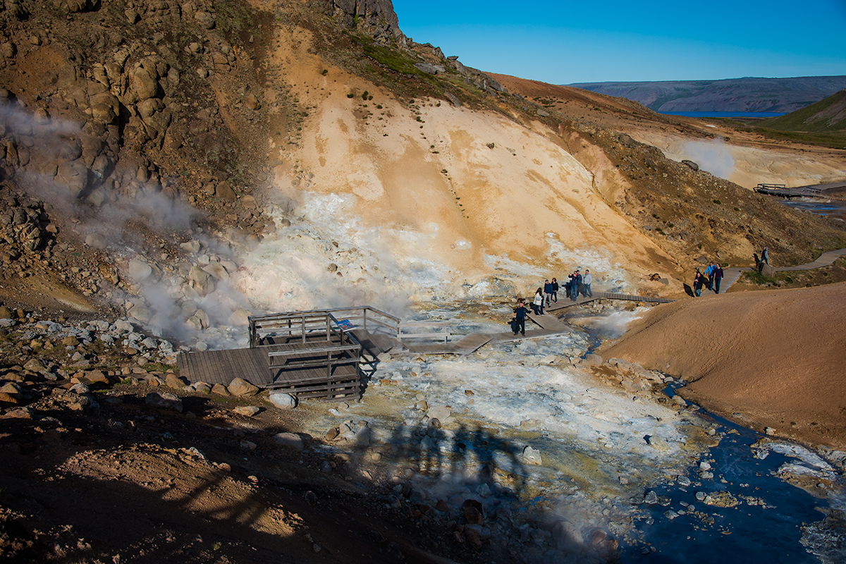 Seltún hot springs attraction at Reykjanes Peninsula