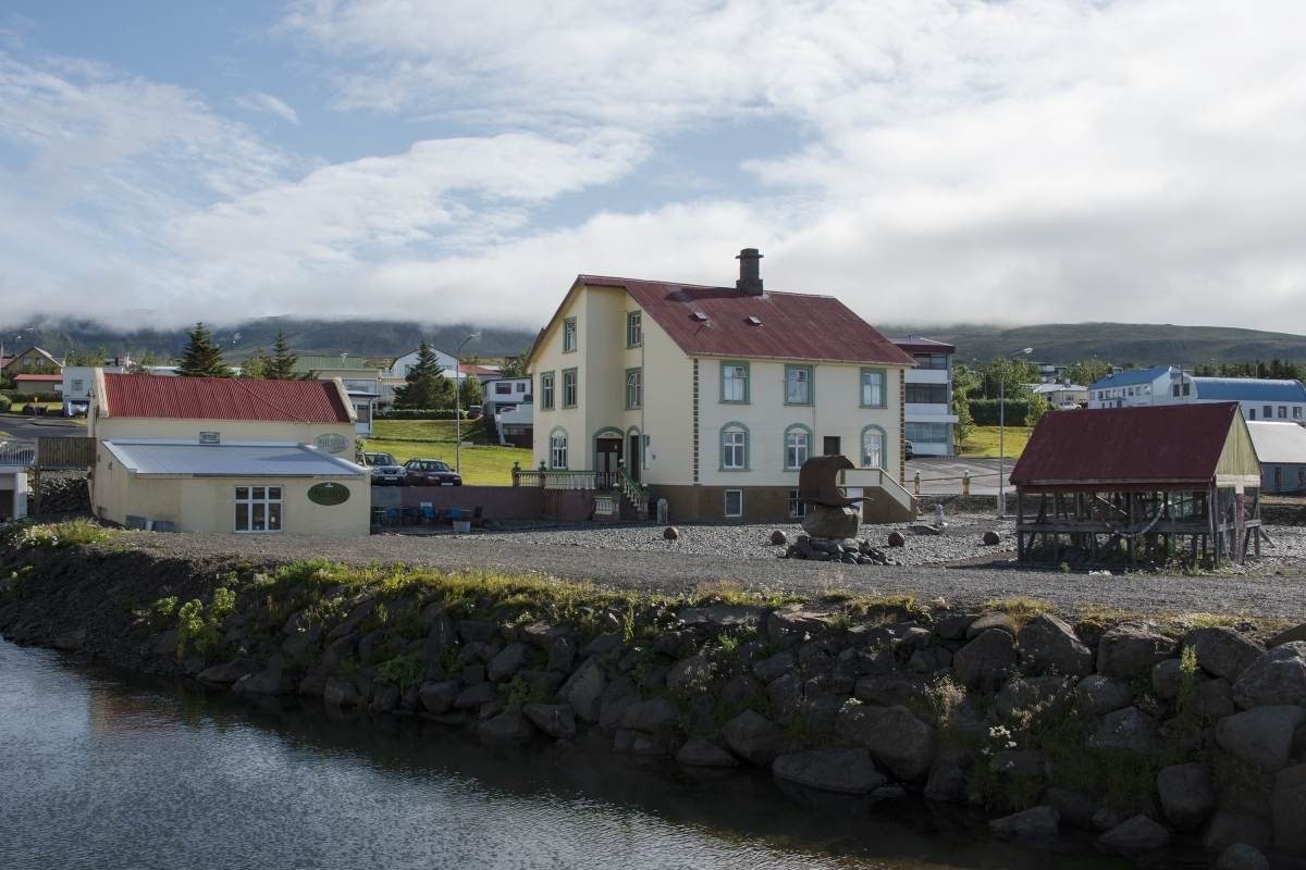 Hvammstangi village in Iceland