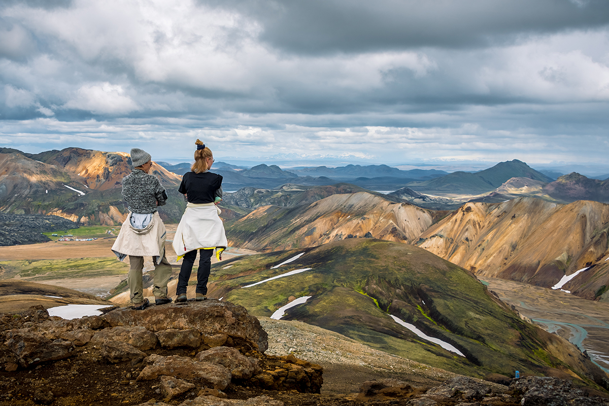 You only need to take a short hike to see some spectacular landscape in Landmannalaugar