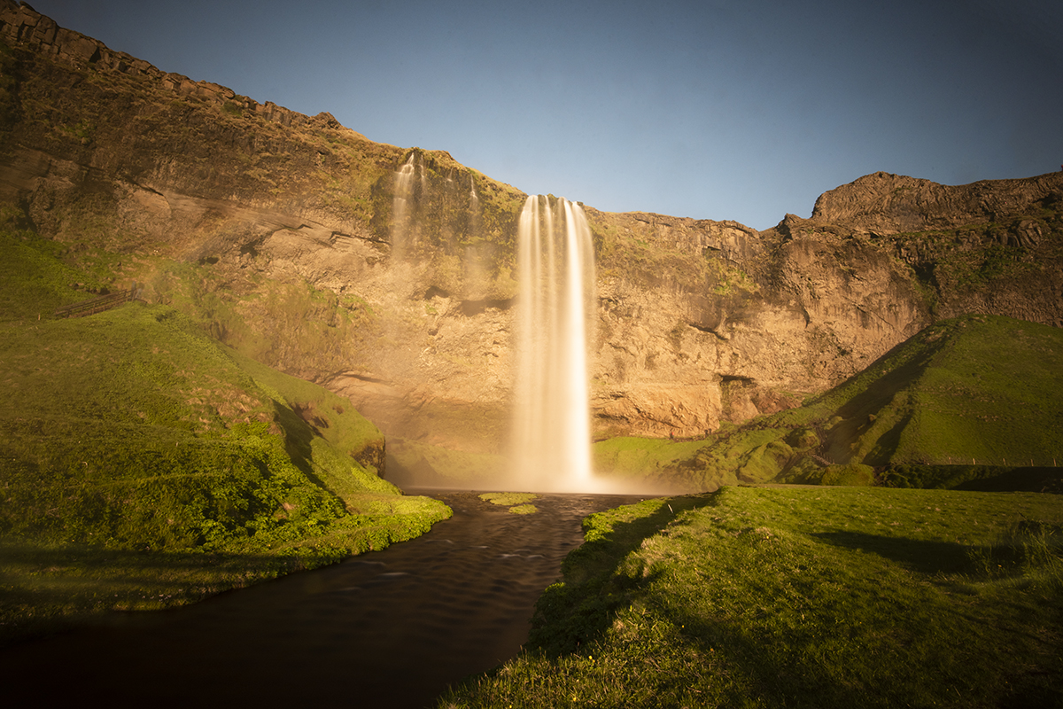 Seljalandsfoss waterfall is a beautiful waterfall, and it also has an amazing quality that people love