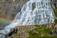 Dynjandi waterfall in the Westfjords in Iceland