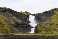 The waterfall Ófærufoss (the impassable waterfall) is one of the few interesting waterfalls in Iceland located in the Highland.