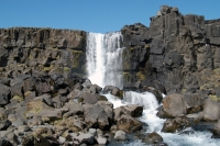 Interestingly the waterfall Öxarárfoss is actually a human-made waterfall