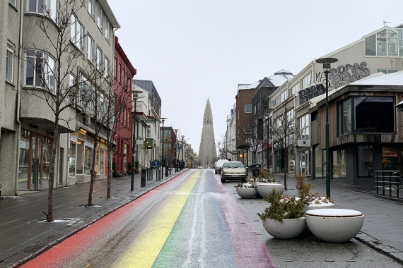 At a time when most streets and tourist attractions in Iceland were empty