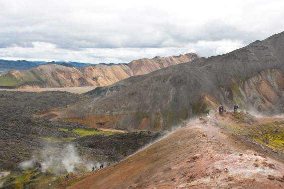 The most famous hiking trail in Iceland today is the Laugavegur