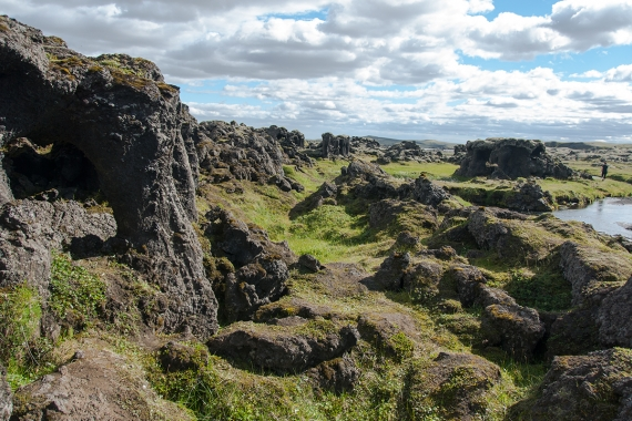 Skælingar in Iceland is a fascinating place to see lava