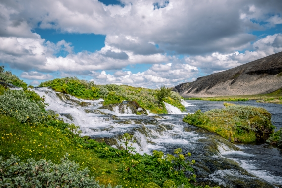 In the middle of nowhere as it seems, you will find this refreshing oasis, Fossabrekkur.