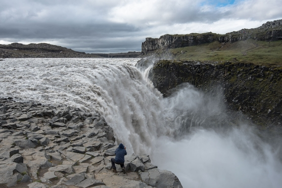 Dettifoss is indeed powerful in volume discharge, having an average water flow of 400 m3/s during summers.