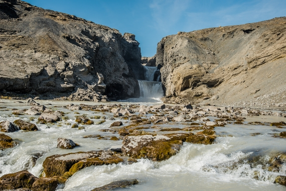 """The waterfall Nýifoss or """"New waterfall"""" is actually quite new."""