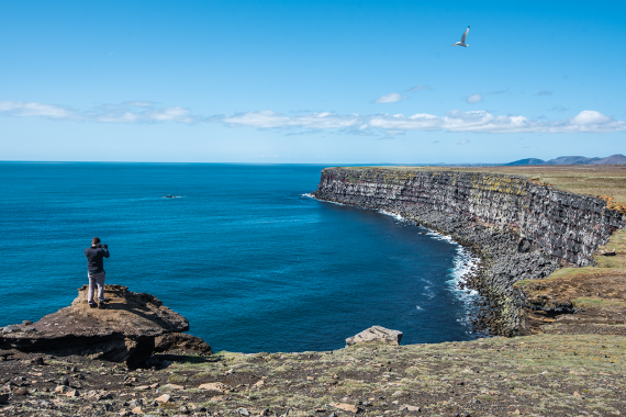 Krísuvíkurberg is a cliff is a wall that the mighty Atlantic Ocean has molded with its never enduring force for thousands of years.