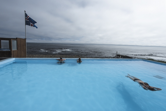 Krossneslaug natural pool is one of Iceland's most interesting and unique destinations.