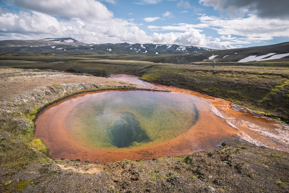 At Rauðufossafjöll you will find one of these sources, one of those rare springs, forming this beautiful pound.