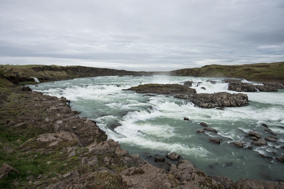 The waterfall Urriðafoss in the mighty river Þjórsá is the waterfall in Iceland that has more volume than any other waterfall.