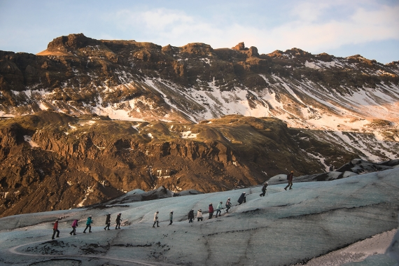 It is not recommended though that you take a walk on the glacier without professional guidance.