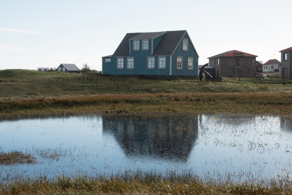 The oldes house in Sandgerði town in Iceland