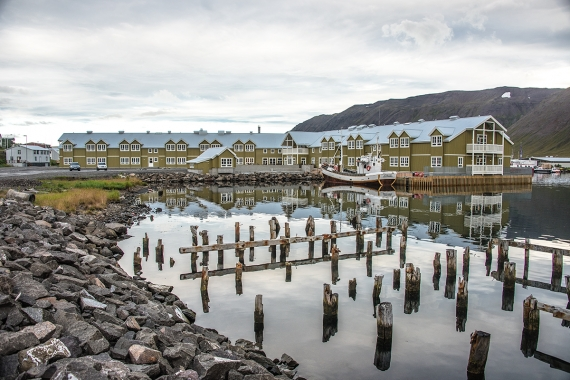 At Siglufjörður town there are still signs from the old docks visable in the town center