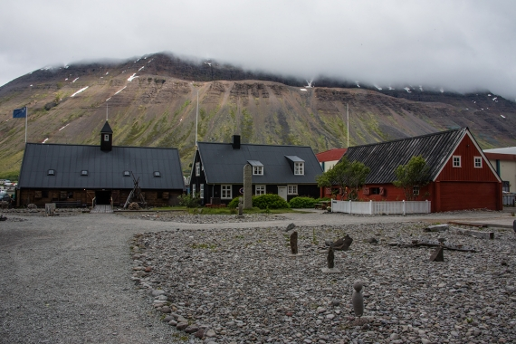 Ísafjörður is the largest and a center town in the West Fjords in Iceland