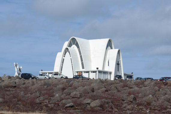 The Kópavogur Church is a well-known landmark in Iceland
