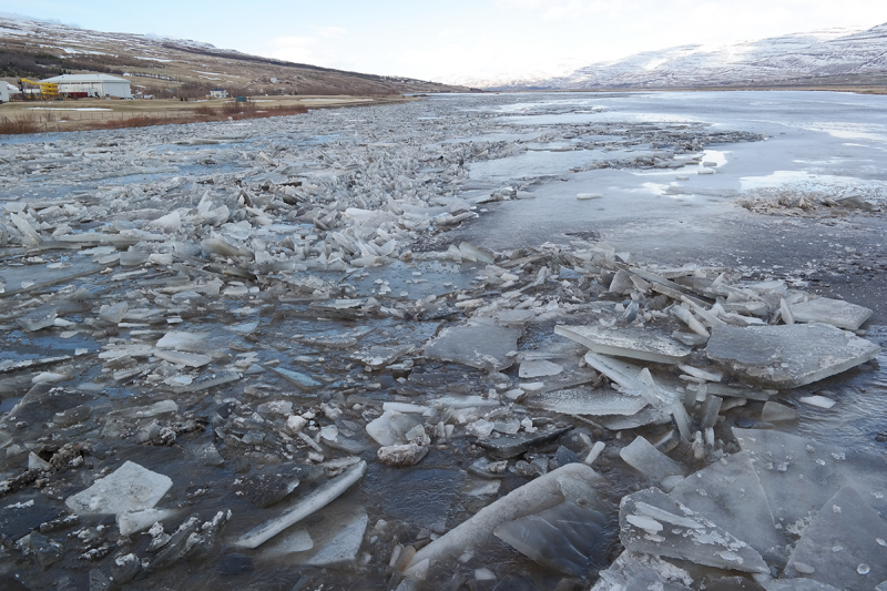 Rivers are floating in Iceland with melting ice