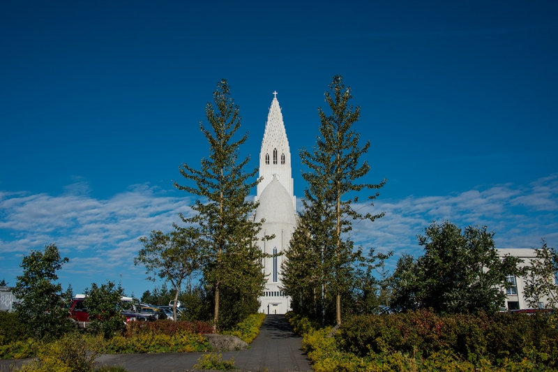 Hallgrímskirkja in Reykjavík Iceland is in the district City Center
