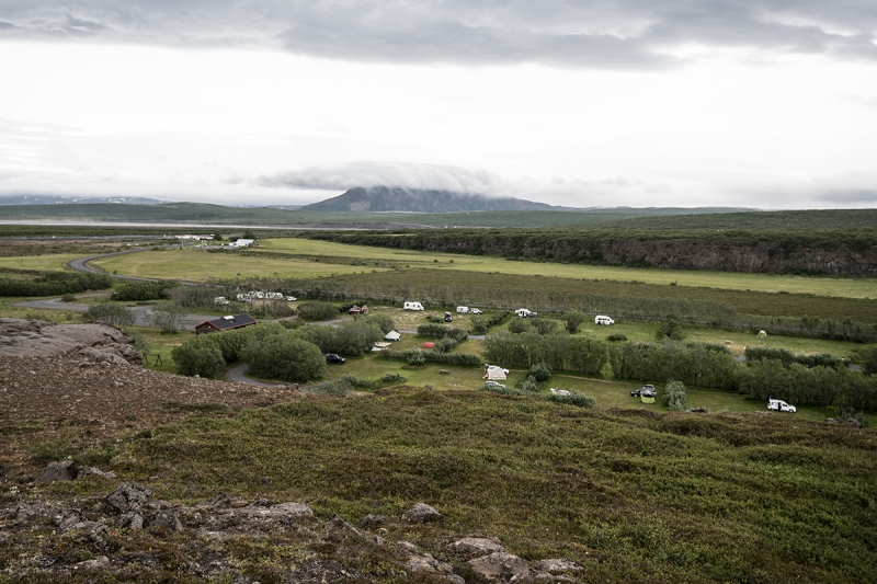 In Ásbyrgi is one of the best camping sites in Iceland