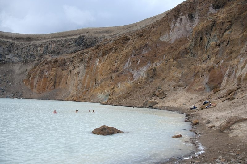 Some visitors like to skinny-dip in Hell here in Iceland