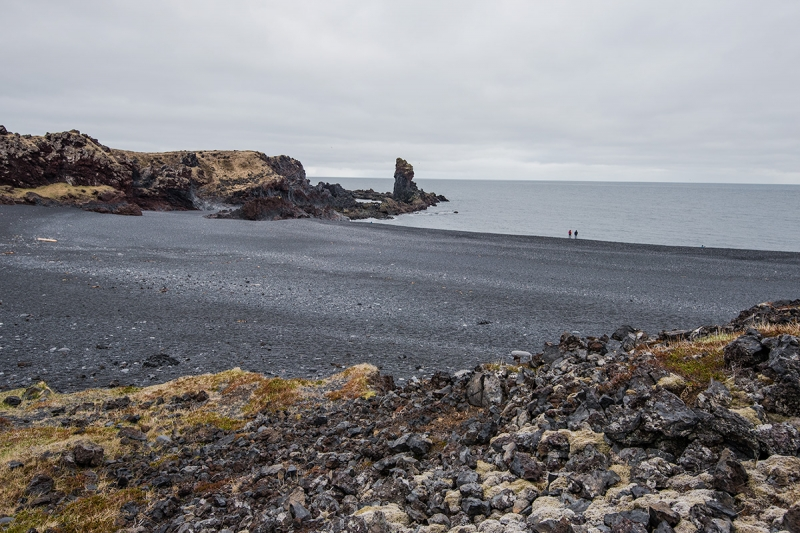 This strange black sand cove on the south coast of the Snæfellsnes Peninsula is curiously close to the Icelandic heart.
