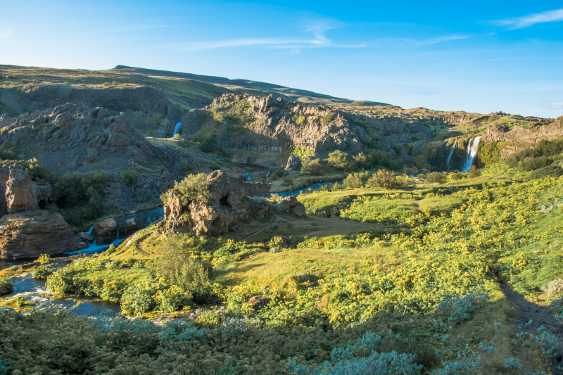 At the edge of the Icelandic Highlands, you will find profoundly beautiful oasis all over the island.