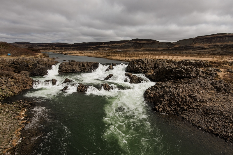 The Glanni waterfall in the river Norðurá is believed to be home to elves and gnomes.