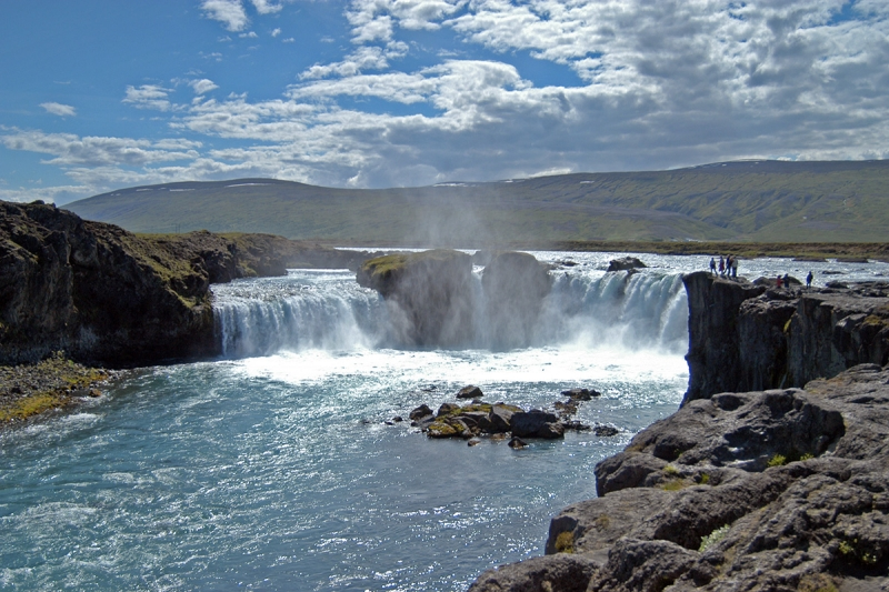 The Goðafoss waterfall is one of the most beautiful waterfalls in Iceland