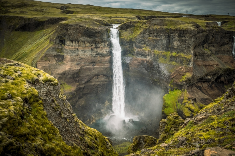 Háifoss waterfall in Iceland