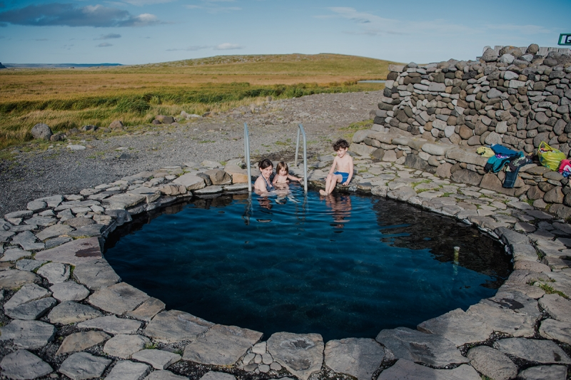 Reykir and the two man-made pools are a great place to stop and rest enjoying the beautiful landscape in Skagafjörður.