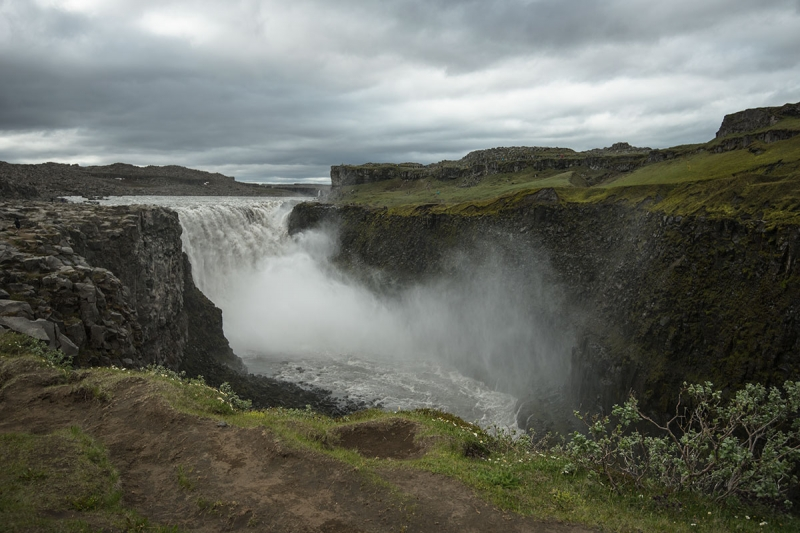 Dettifoss is reputed to be the most powerful waterfall in Europe.