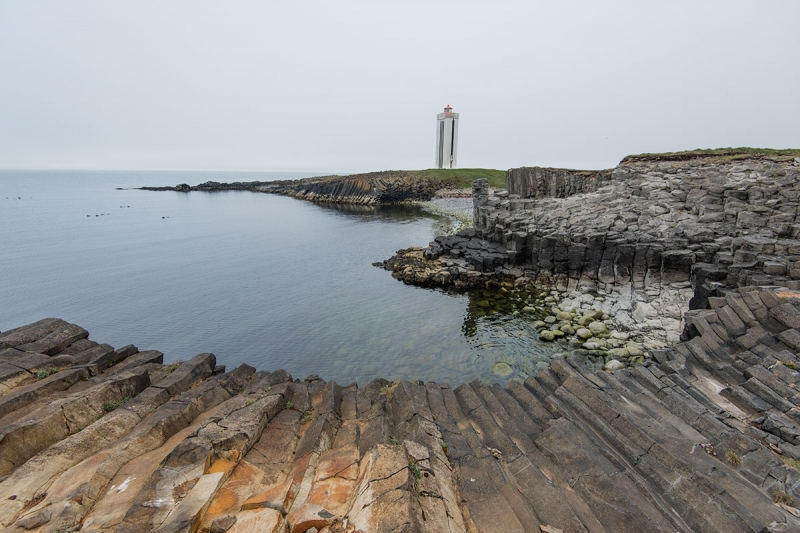 The main attraction at Kálfshamarsvík is the unusual and stunning formation of basalt columns at the bay as well the surrounding area.