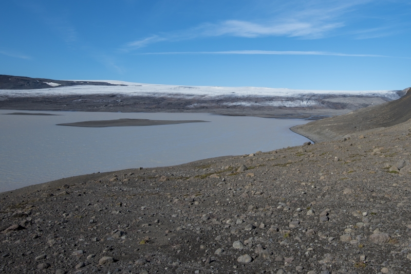 Hagavatn lake south of Langjökull glacier in Iceland