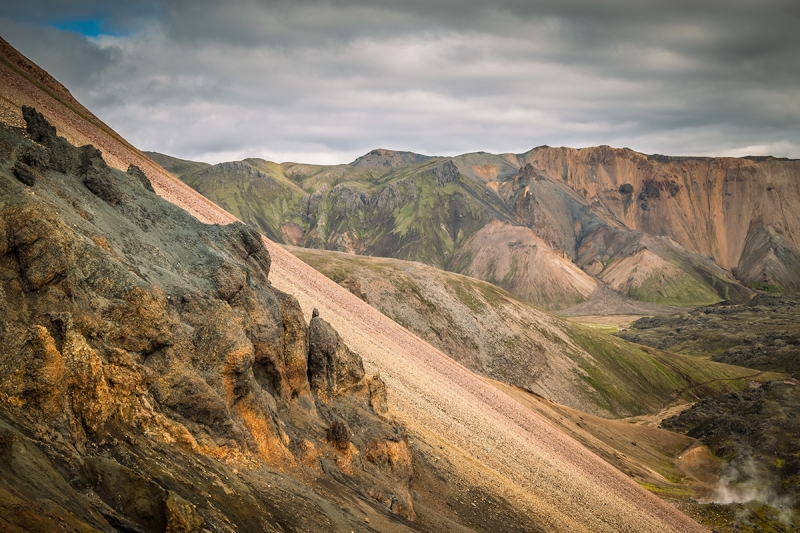 View from Brennisteinsalda in Landmannalaugar