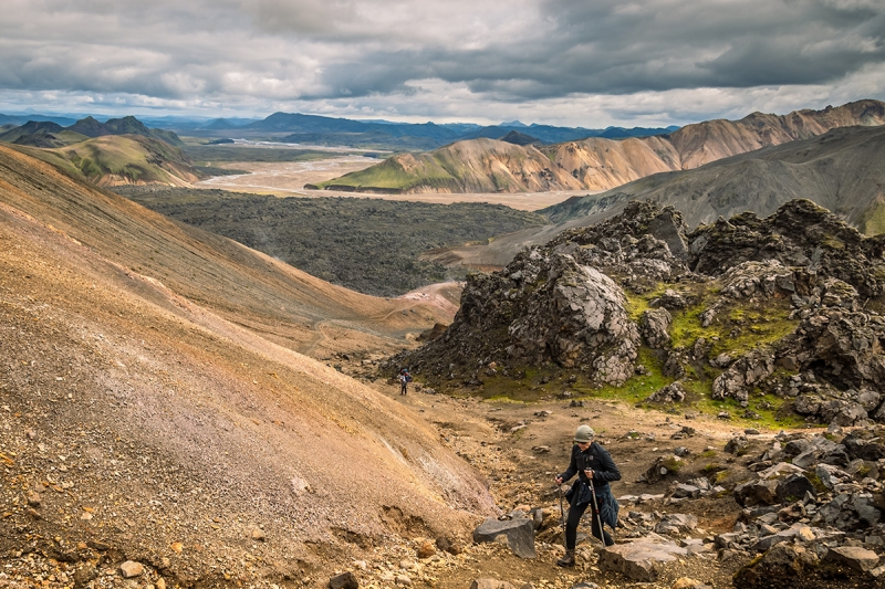 Many trails in Landmannalaugar have great view