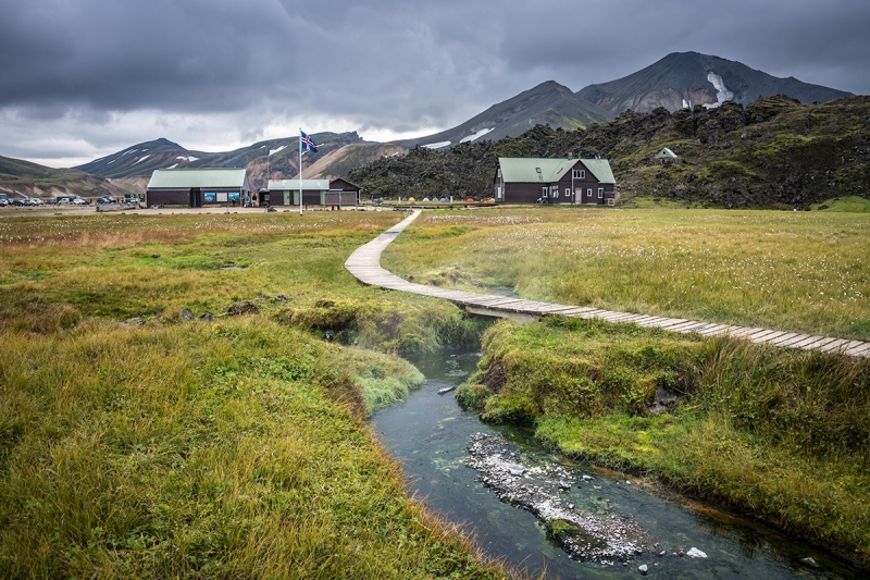 Landmannalaugar has a harsh highland camping site