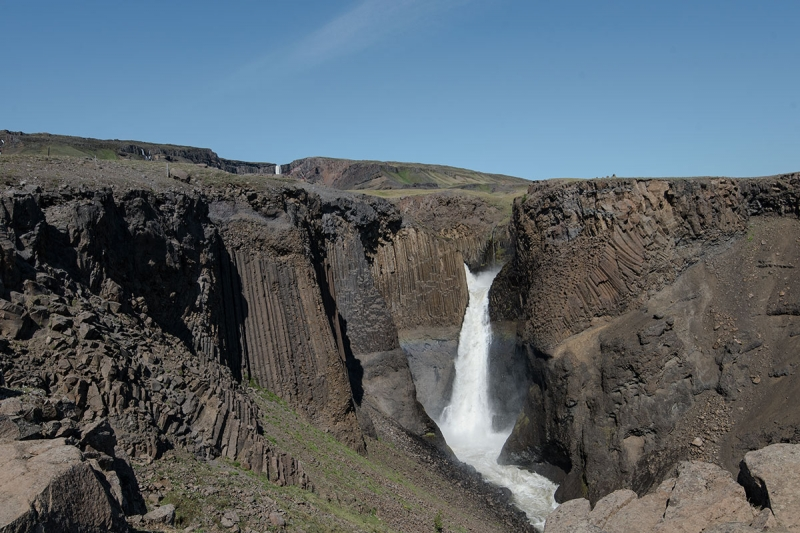A little further downriver you will find another waterfall, Litlanesfoss that is no less impressive.
