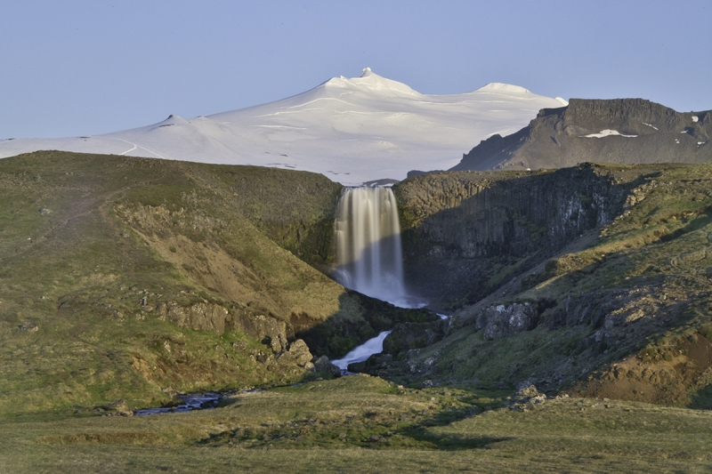 Svöðufoss waterfall on the north side og Snæfellsnes Peninsula