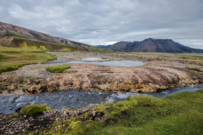 Visiting Strútslaug geothermal pool takes some hiking