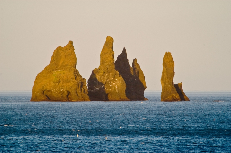 Reynisdrangar, just south of the dramatic black beaches of Vík village