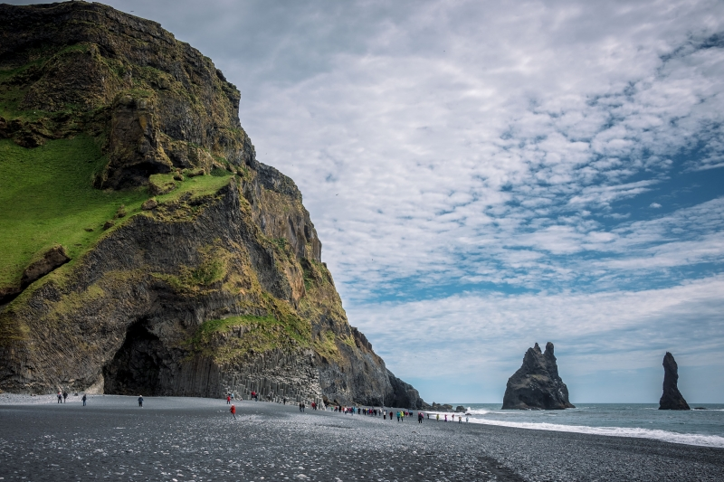 Reynisfjara Beach has in recent years become one of the most popular tourist attractions in Iceland