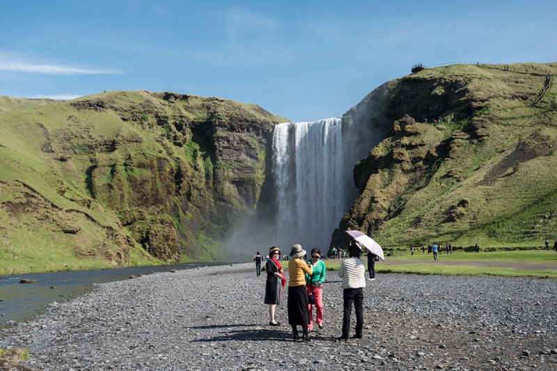 Skógafoss is a popular destination in the Southern Region