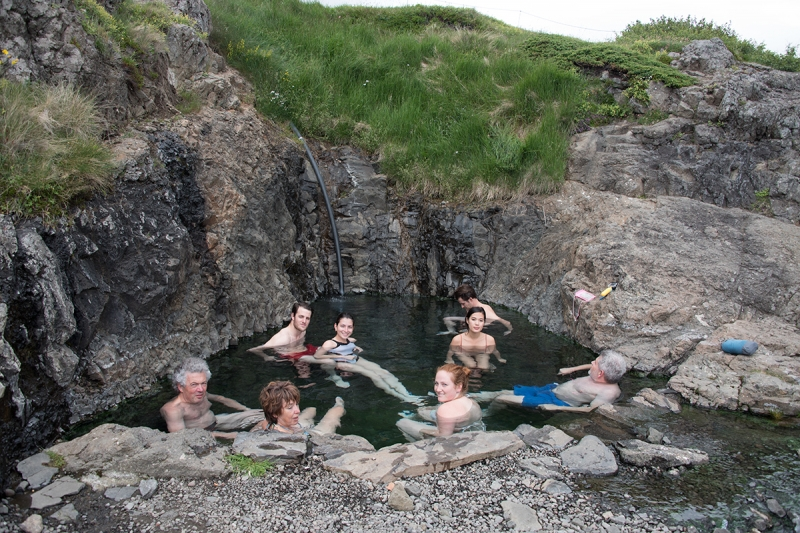 The pool Hellulaug in the southern shore of West Fjords is a warm and delightful pool.
