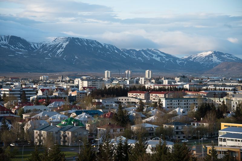 A view to the district Hlíðar